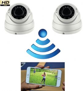 2 Camera CCTV System - GSM access your cameras anywhere